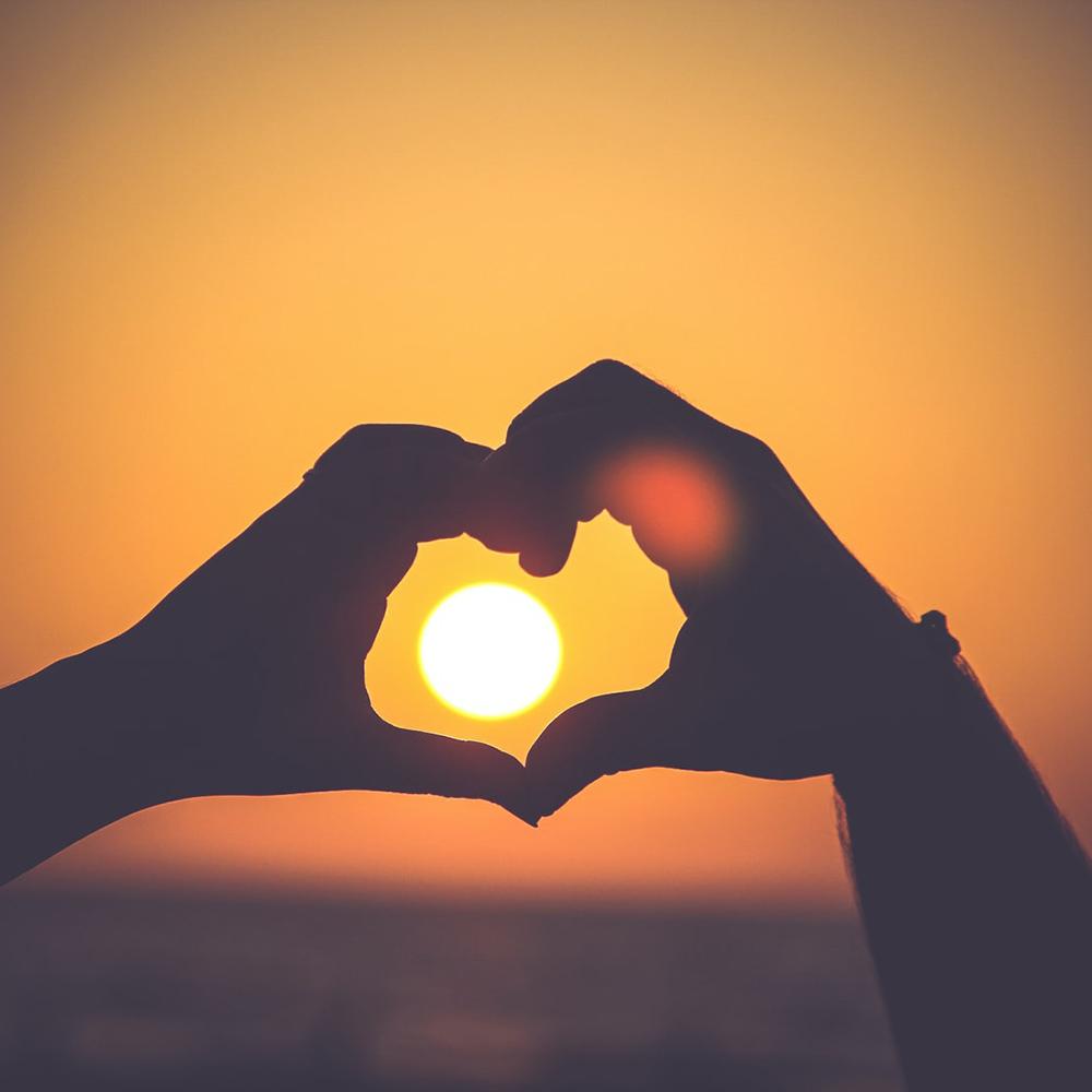 Sonne Silhouette Hand